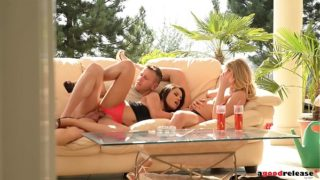 Ultra Sexy outdoor threesome with Lucy Heart & Aida Sweet