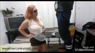 Mercan Kumsal Gives Electrician Head English Sub Turkish Blowjob Video