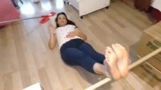 Turkish Woman Gets Her Soles Beaten